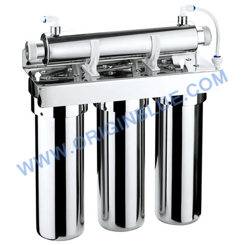 Stainless steel filter with UV